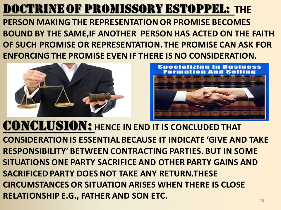 consideration and promissory estoppel relationship help
