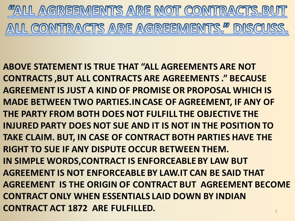 when does a contract become enforceable The essential provisions of an enforceable contract terms with another party with the understanding that the contract will become binding when accepted by the.
