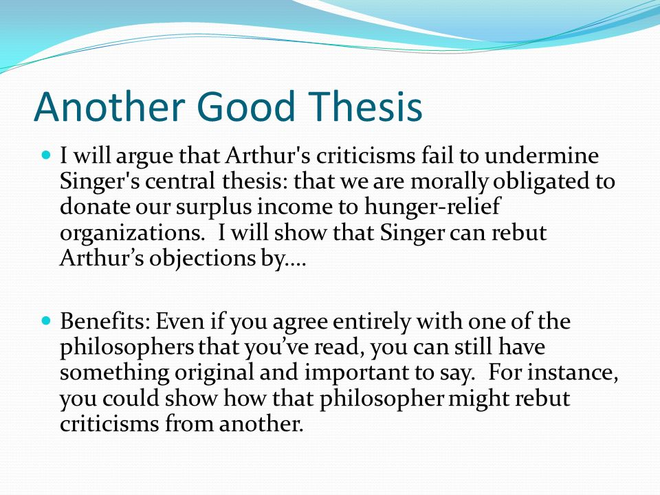 what to write a philosophy paper on Tips on writing a philosophy paper douglas w portmore copyright © 2001 (revised 2006) by douglas w portmore some rights reserved this work is licensed under a creative commons license.