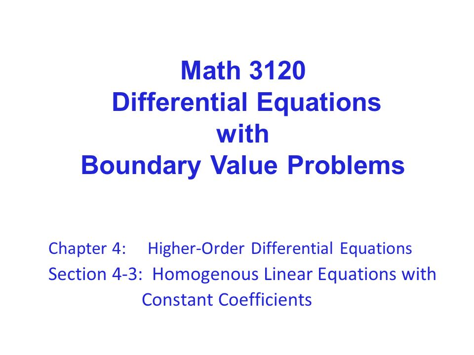 linear boundary value problem pdf