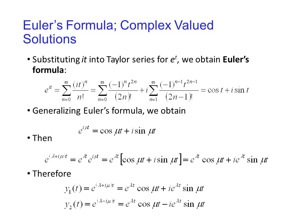 euler s method and taylor series Ordinary differential equations reducing higher order differential equations to a system of first order equations: dt dx y = define a new variable substitute into the original de - the relationship between the taylor series expansion and euler's method.