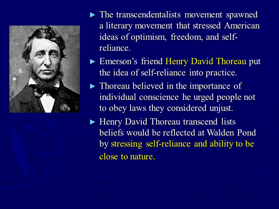 compare henry david thoreau s walden and emerson s self reliance Individualism in emerson and thoreau  ralph waldo emerson and henry david thoreau  in ralph waldo emerson's essay self reliance and henry david.