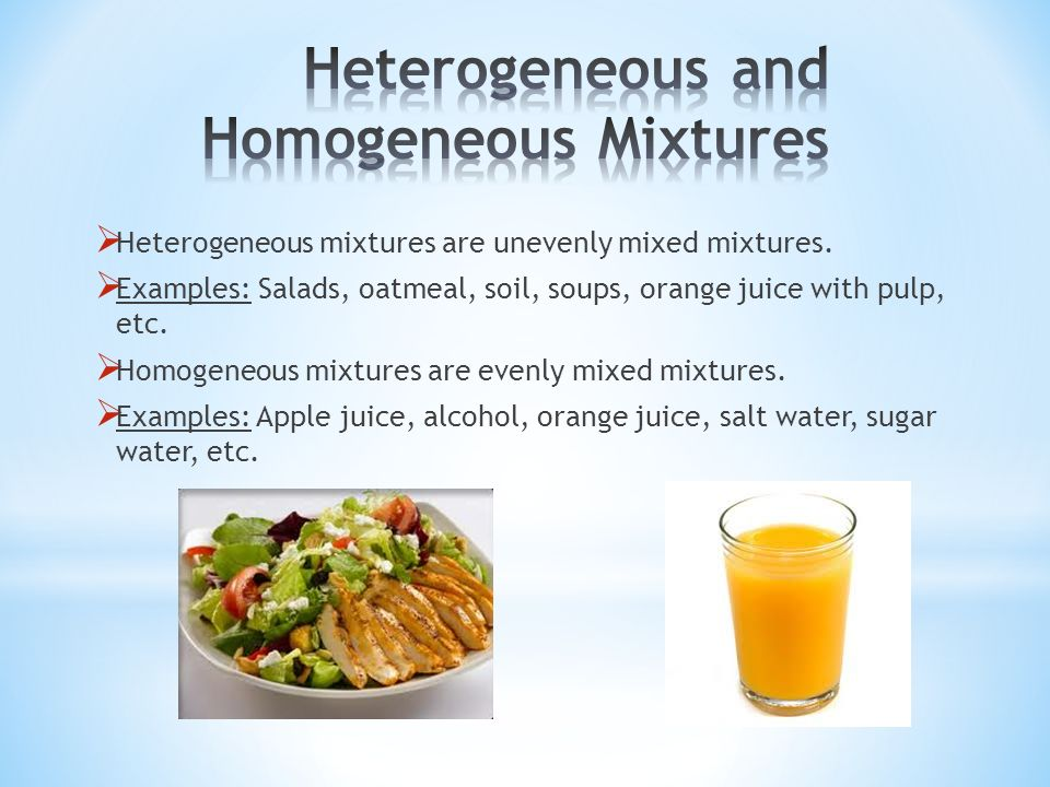 Homogeneous Mixture Examples Food | www.pixshark.com ...