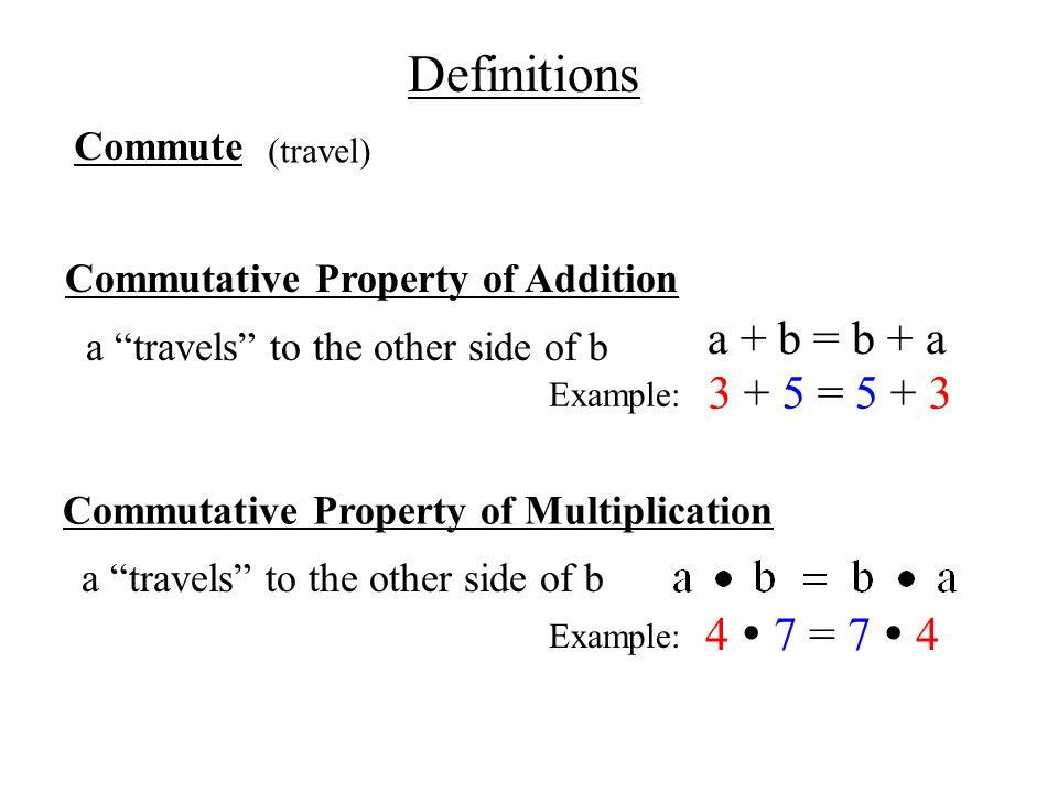 Ch 1.6 Commutative & Associative Properties - ppt download