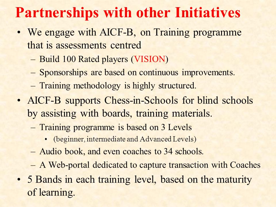 Partnerships with other Initiatives