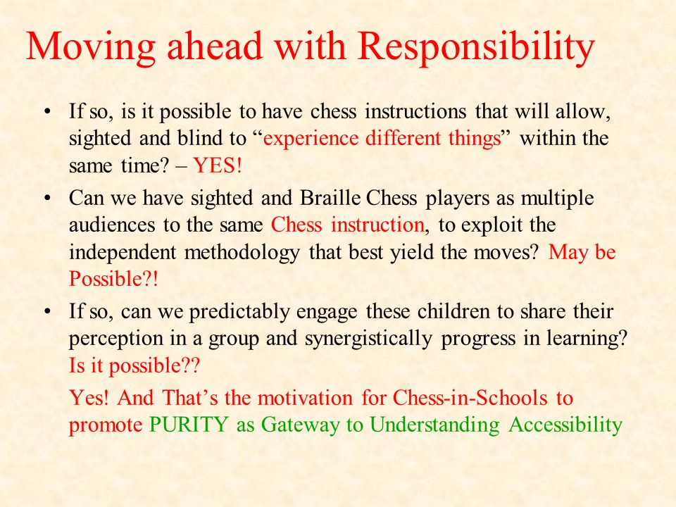 Moving ahead with Responsibility