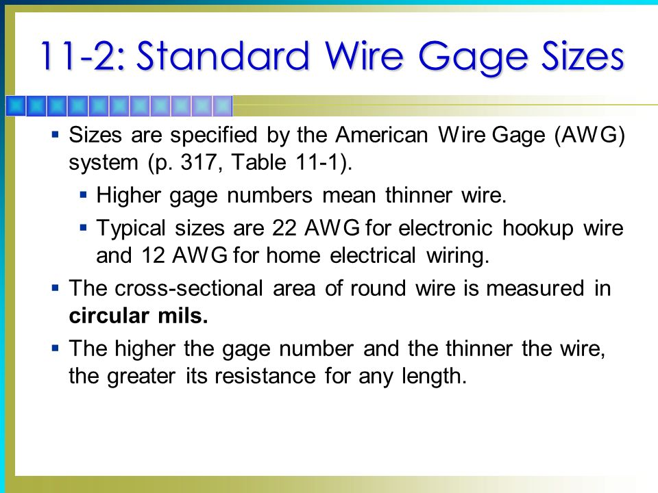 Conductors and insulators ppt video online download 11 2 standard wire gage sizes greentooth Gallery