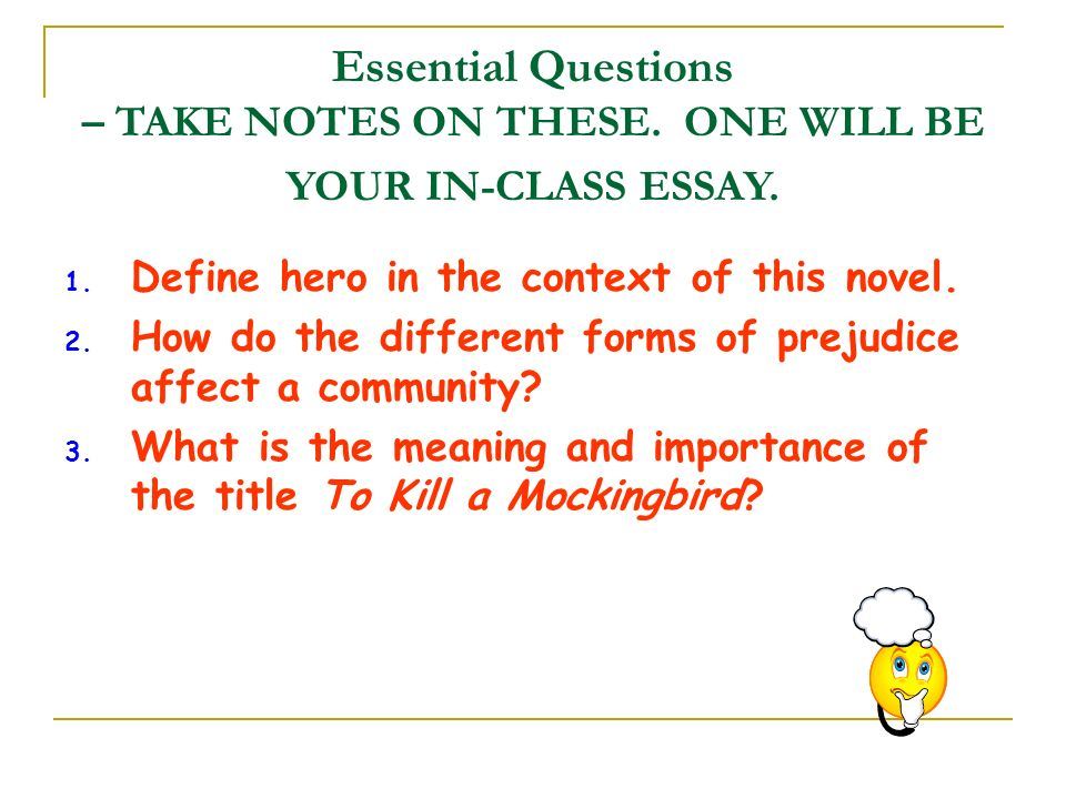 to kill a mockingbird context and introduction ppt video online   to kill a mockingbird essential questions take notes on these