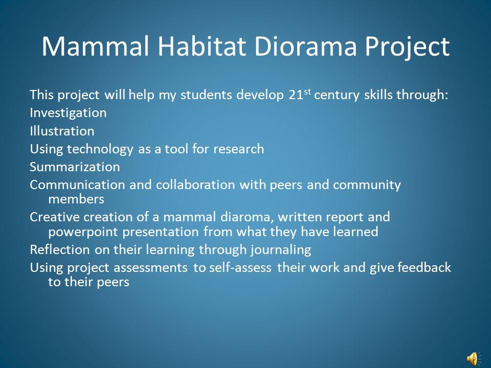 Mammal Habitat Diorama Project