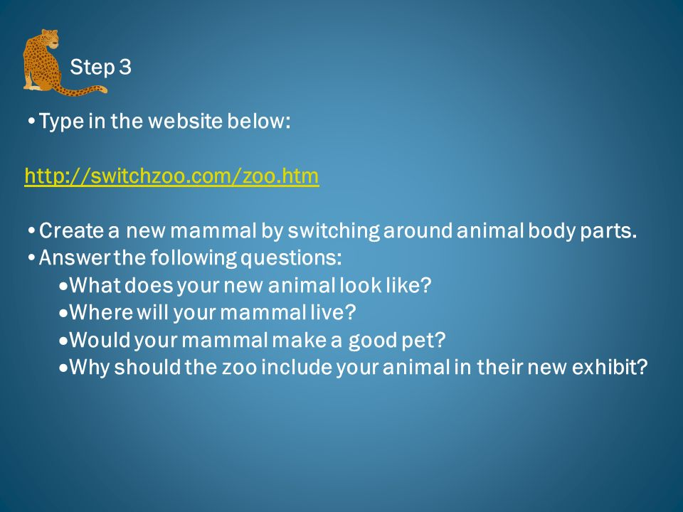 Type in the website below: http://switchzoo.com/zoo.htm