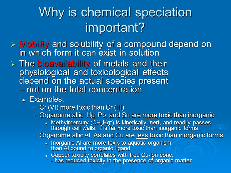 speciation of aluminium