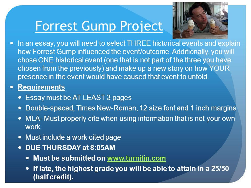 chapter section u s involvement grows ppt video online  forrest gump project