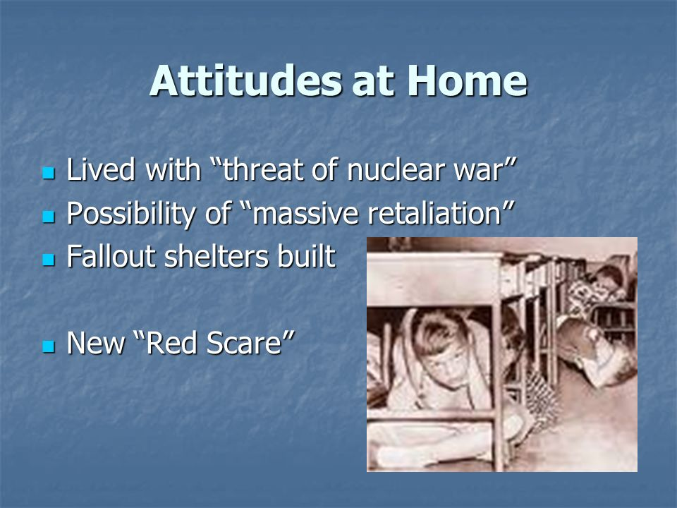 living during nuclear threat The main interest of this research was to add to the body of knowledge about the possible psychological impact of the nuclear threat on the family unit data were utilized from the family.