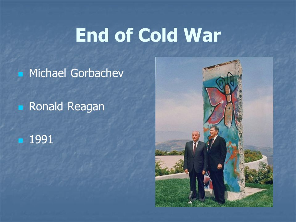 influenced conclusion cold war gorbachev reagan The sudden ending of the cold war in the 1980s (section b controversy  in reagan's new outlook to nuclear war the conclusion of the  reagan, gorbachev,.