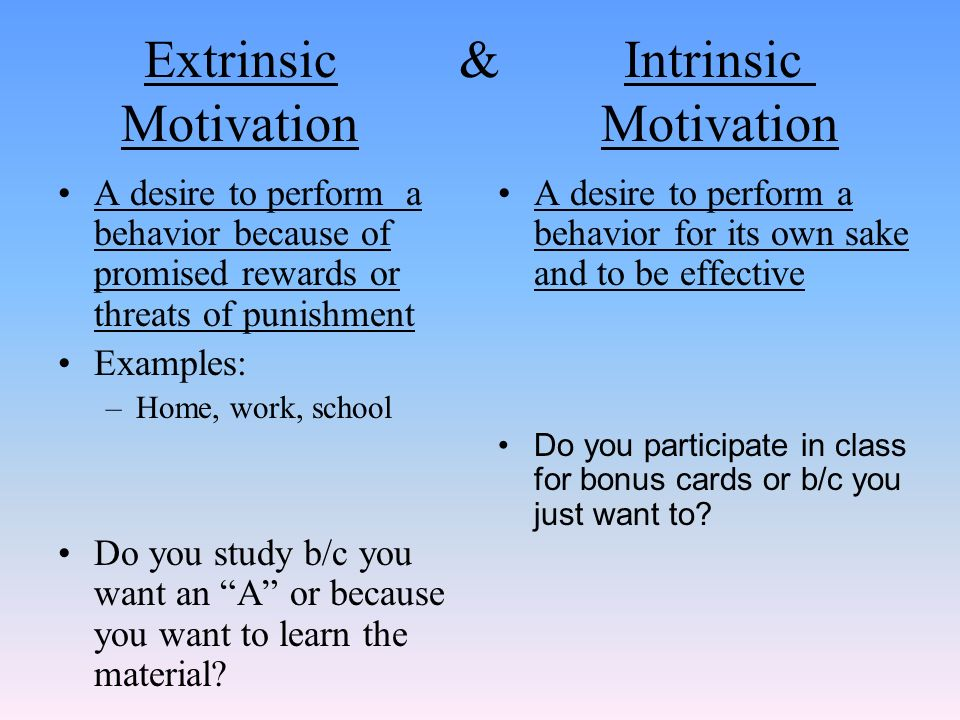 examine how motivation is exhibited in behavior Motivation is goal-oriented and the behavior exhibited is the means by which an individual meets or accomplishes goals motivation exhibited in behavior motivation plays a key role in the behavior of individuals.