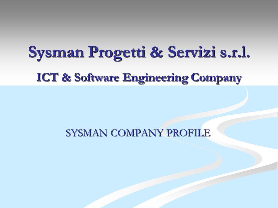 Sysman Progetti & Servizi s.r.l. ICT & Software Engineering Company