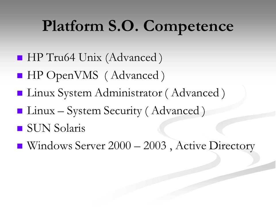 Platform S.O. Competence