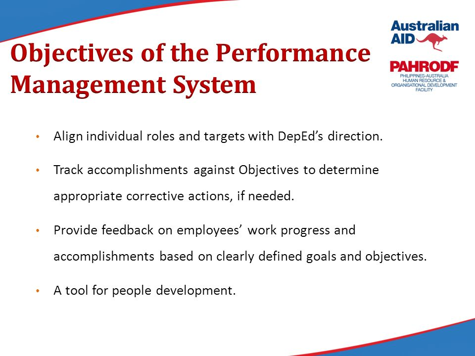 Results Based Performance Management System Rpms For