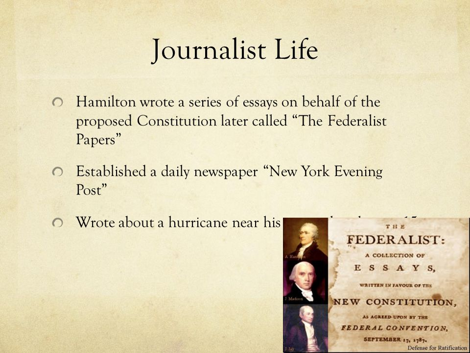 who wrote the federalist essays
