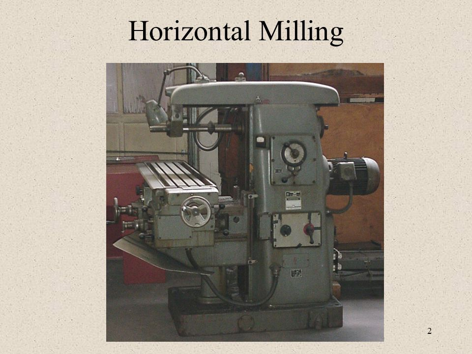 milling machine ppt