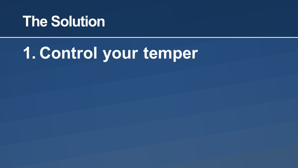 how to control your temper pdf