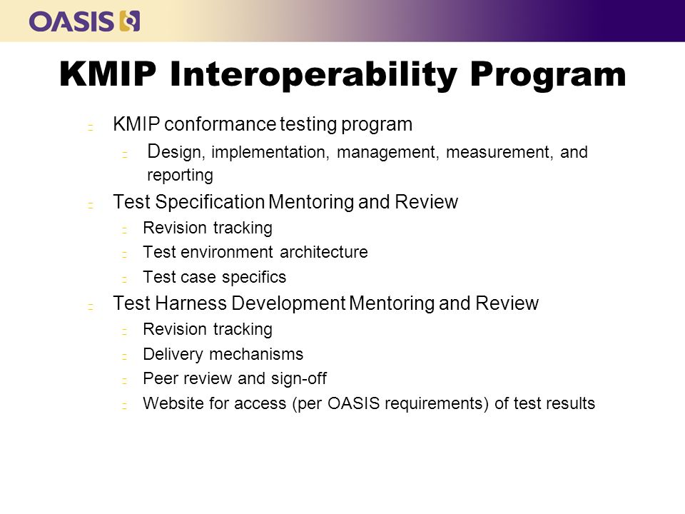 KMIP Interoperability Program