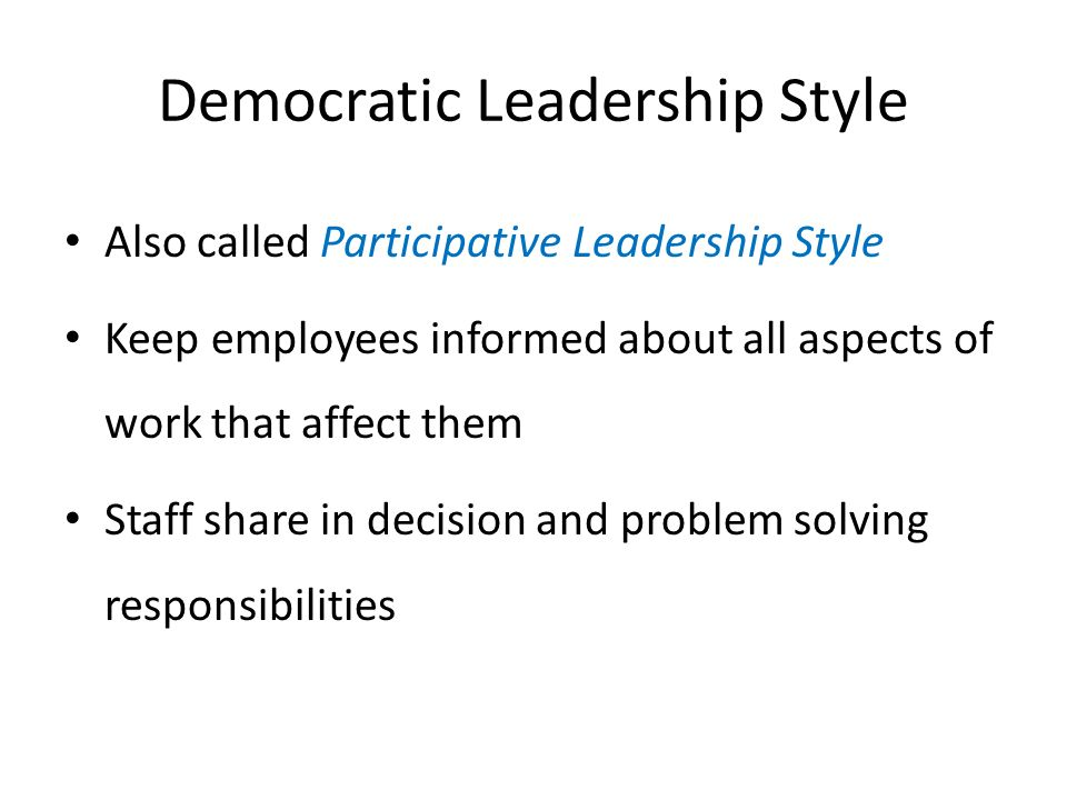 democracy and leadership in schools ppt