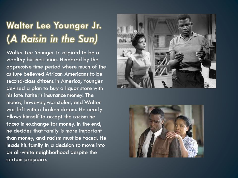 the importance of the dreams in a raisin in the sun Full glossary for a raisin in the sun essay questions  passionate, ambitious, and bursting with the energy of his dreams, walter lee is a desperate man,.