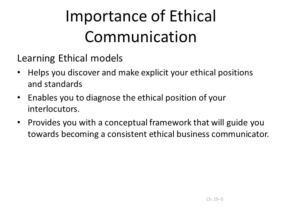 Ethics in business communication