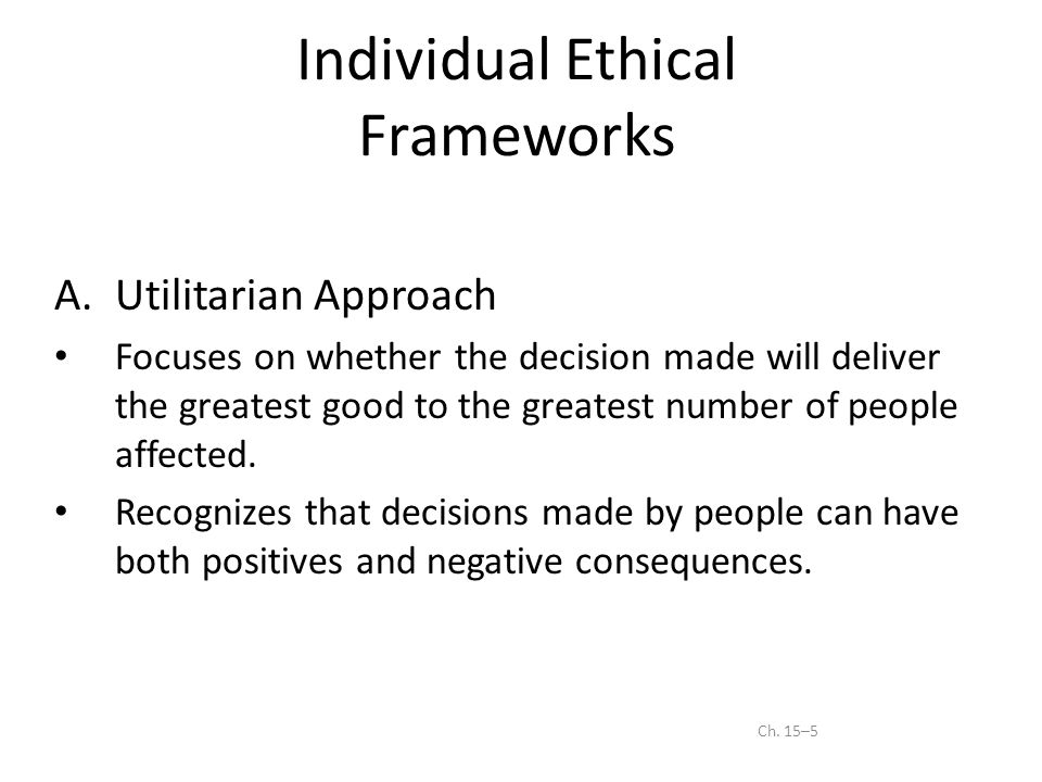 Individualism and Ethical Decision Making