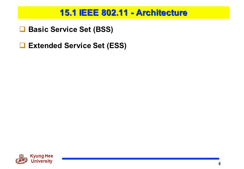 Chapter 14 wireless lans ppt download for Ieee 802 11 architecture