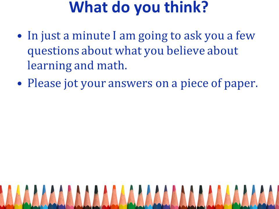The Math Forum - Ask Dr. Math