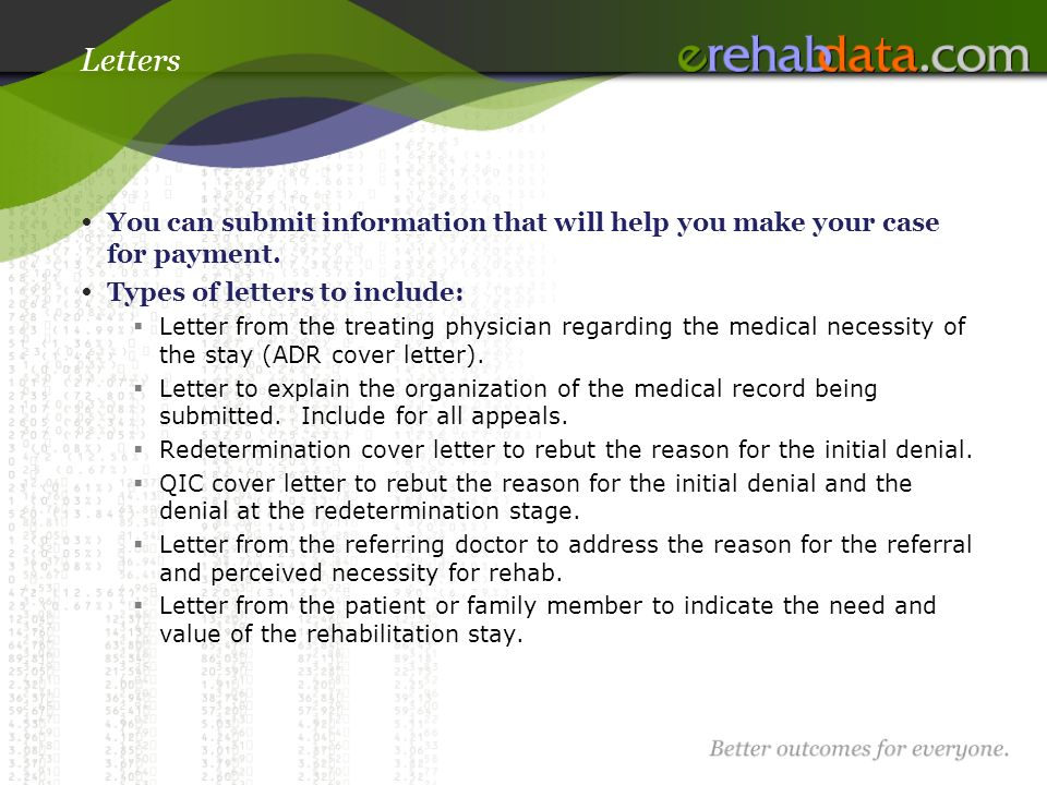 10 letters - Medical Appeal Letters