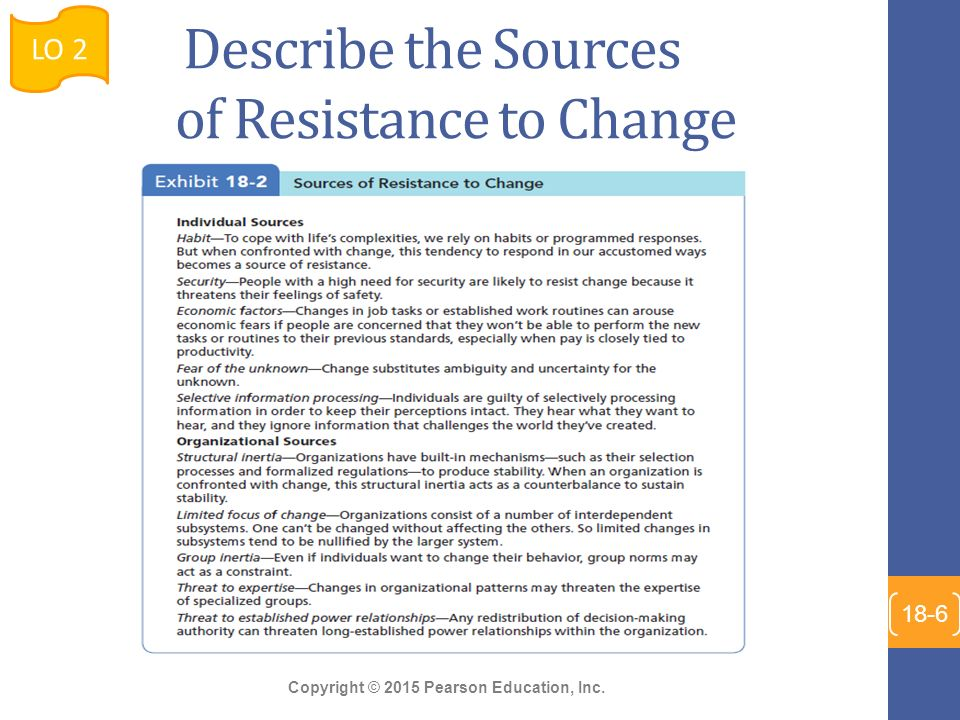 positive effects resistance to change Organizational change - reasons why people resist change expecting resistance to change and planning for it from the start of your change management progamme will allow you to effectively manage objections.