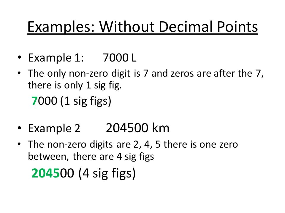 Significant Figures Sig Figs Ppt Download