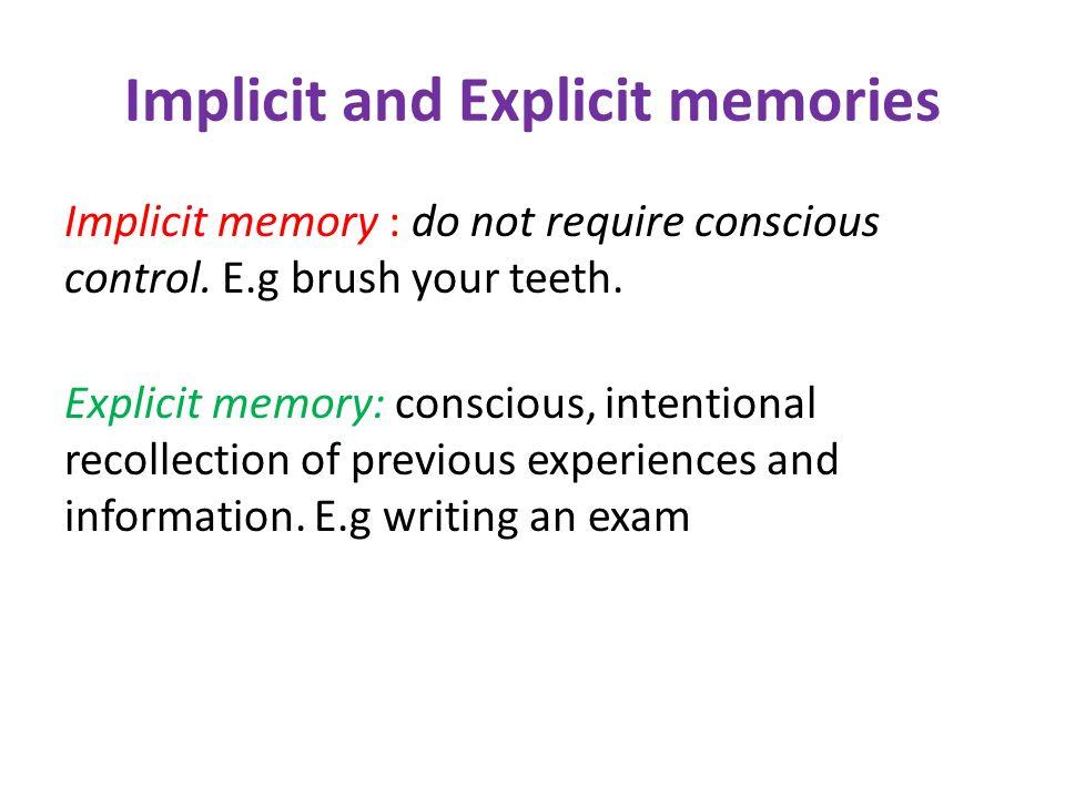 Outcome 2 Unit 3 Memory. - ppt download