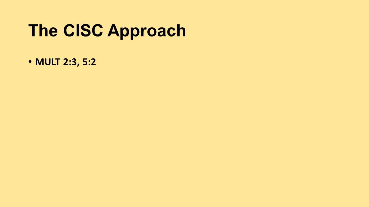 Week 5 RISC &. CISC.
