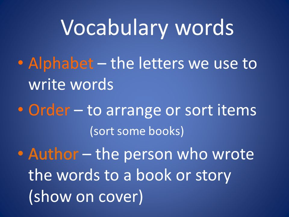 How To Make A Book Cover Using Word : Alphabetical order aka abc ppt video online download