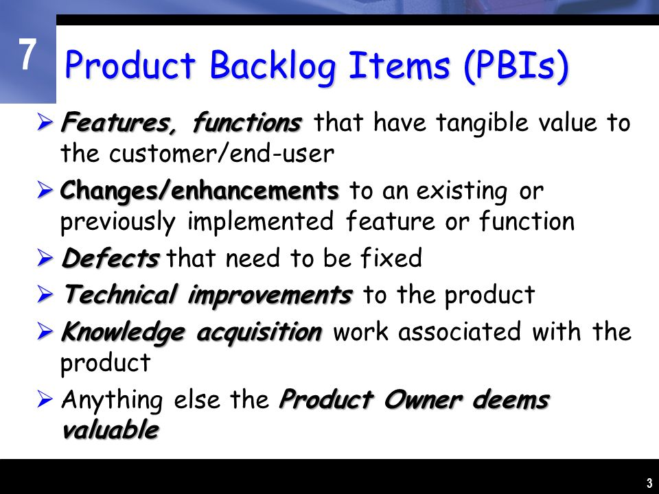 Feature Set A K A Product Backlog Management In Scrum