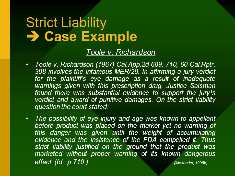 Questions And Answers Strict Liability And Custom Paper Academic