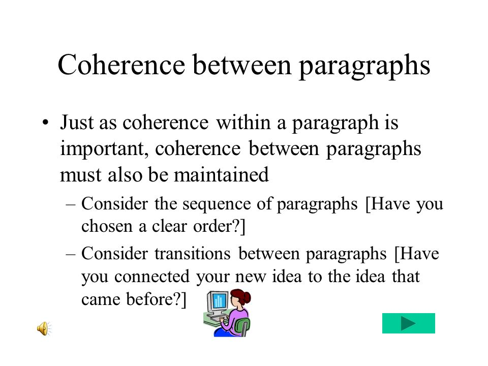 Body Paragraphs Unity Coherence Ppt Download