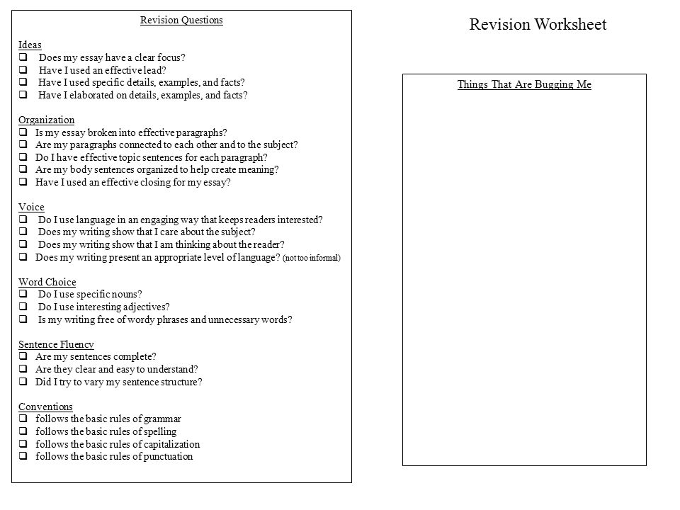 Writing Process Rubric ppt download – Writing Conventions Worksheets