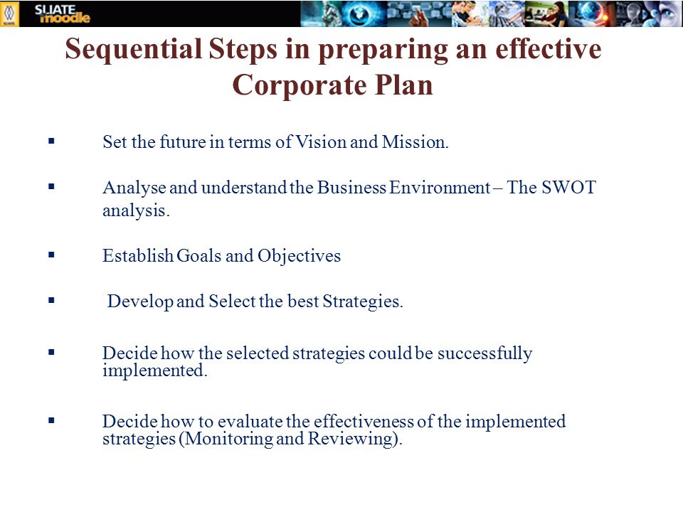 steps meant for making a good online business plan