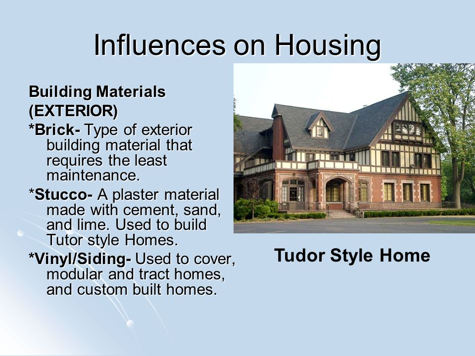 Housing styles ppt video online download for Types of homes to build