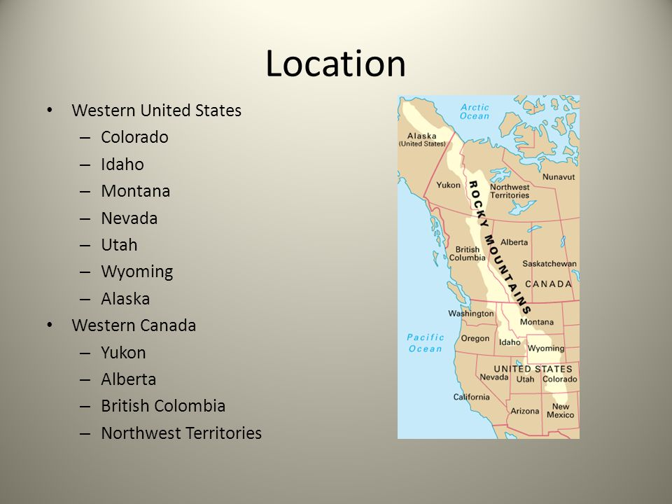 ROCKY MOUNTAIN Ppt Download - Colorado location in us