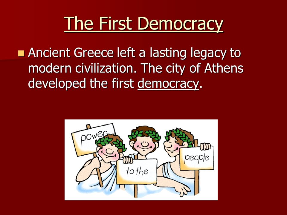 the seeds of democracy in ancient greece Mythology carries seeds of truth,  the people of ancient greece practiced what is called hellenistic religion, which encompasses any of the various systems,.