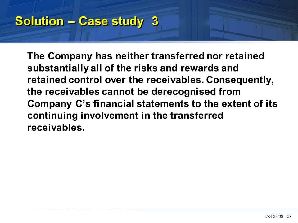 financial case studies of companies Financial transactions & fraud case studies in occupational fraud highlights two case studies each case presents important background information about the.