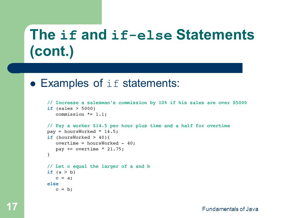 computer fundamentals if else statement Fundamentals of computer programming with c# (the bulgarian c# programming book) by svetlin nakov & co conditional statements if and if-else.