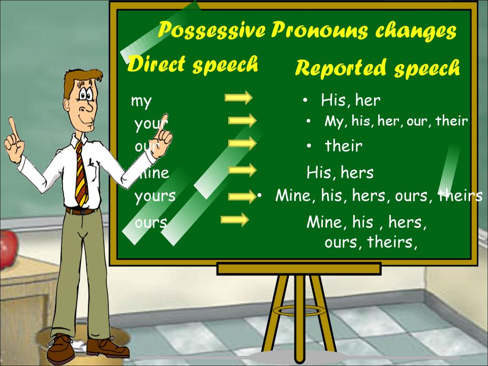 pronoun changes in reported speech pdf