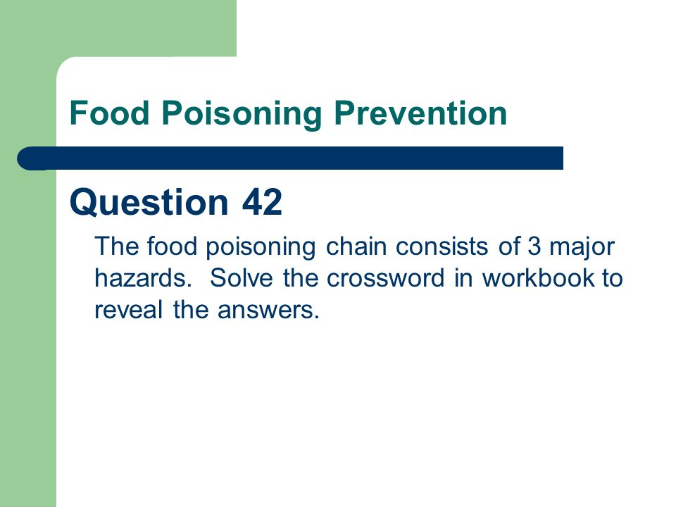 A Question of Food Hygiene - ppt download